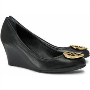 "Tory Burch ""Sally"" Wedge with GOLD medallion."